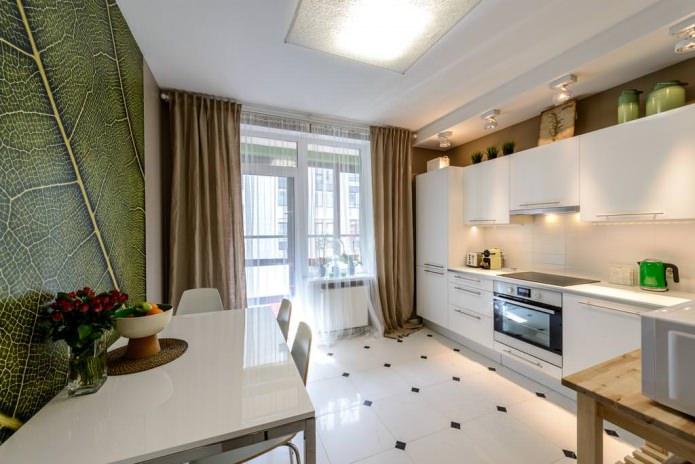 Дизайн кухни с зелеными обоями: 55 современных фото в интерьере - 14