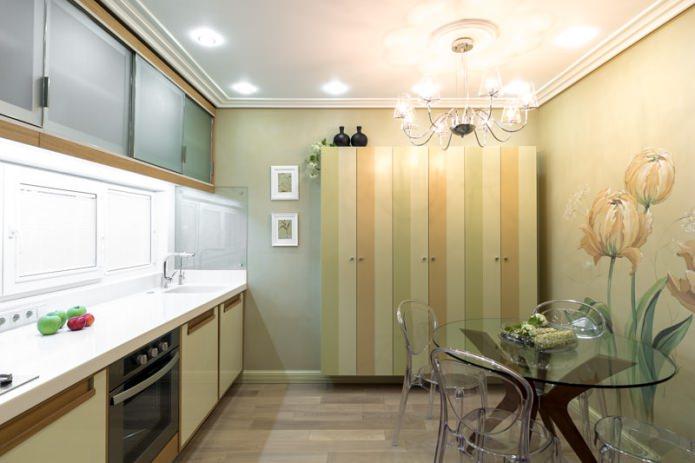 Дизайн кухни с зелеными обоями: 55 современных фото в интерьере - 8