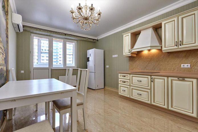 Дизайн кухни с зелеными обоями: 55 современных фото в интерьере - 13