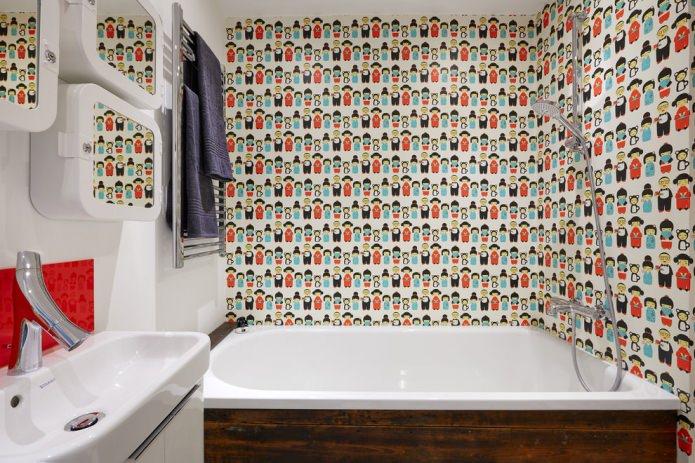самоклеящееся полотно в ванной