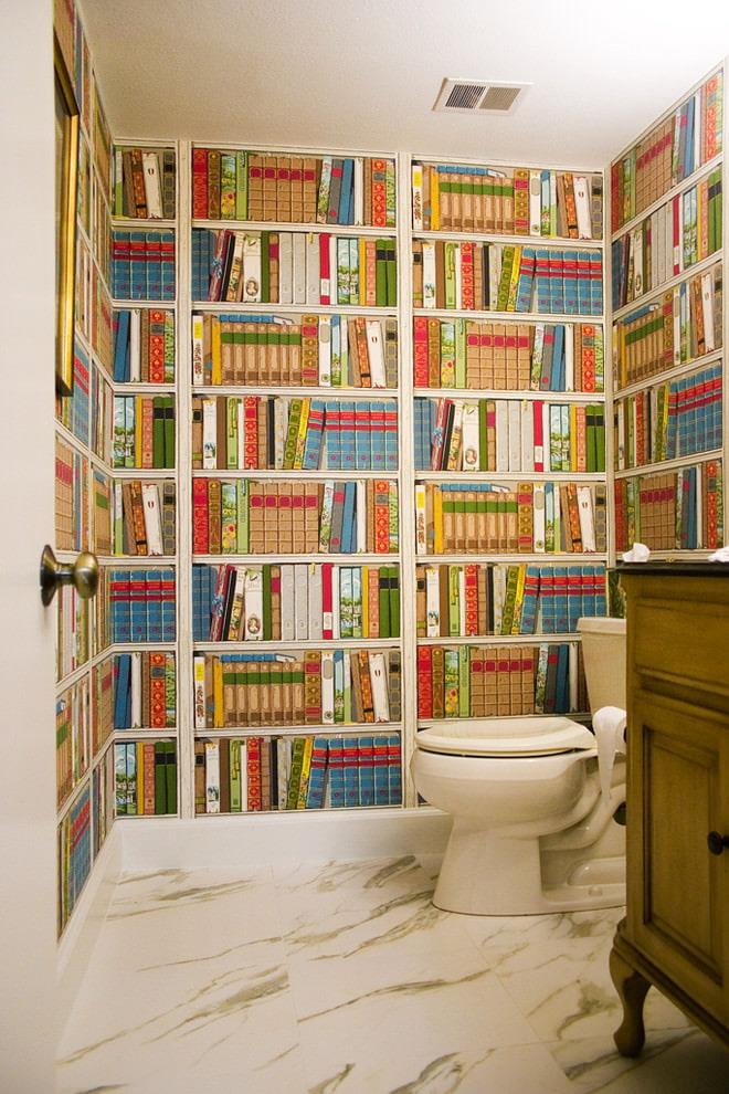 обои расширяющие пространство с помощью книг