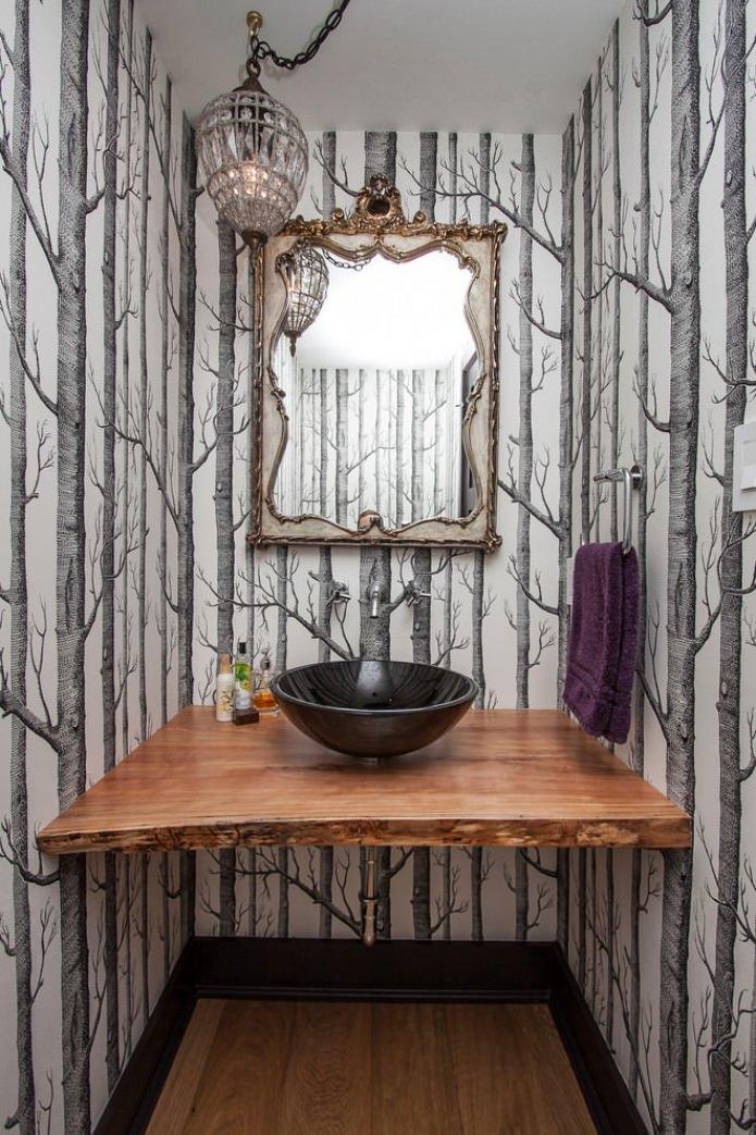 rundt spejl uden ramme badeværelse