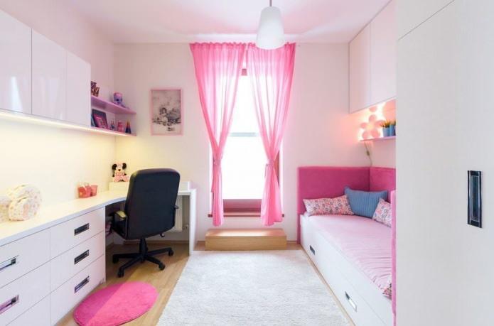 компактная комната для девочки