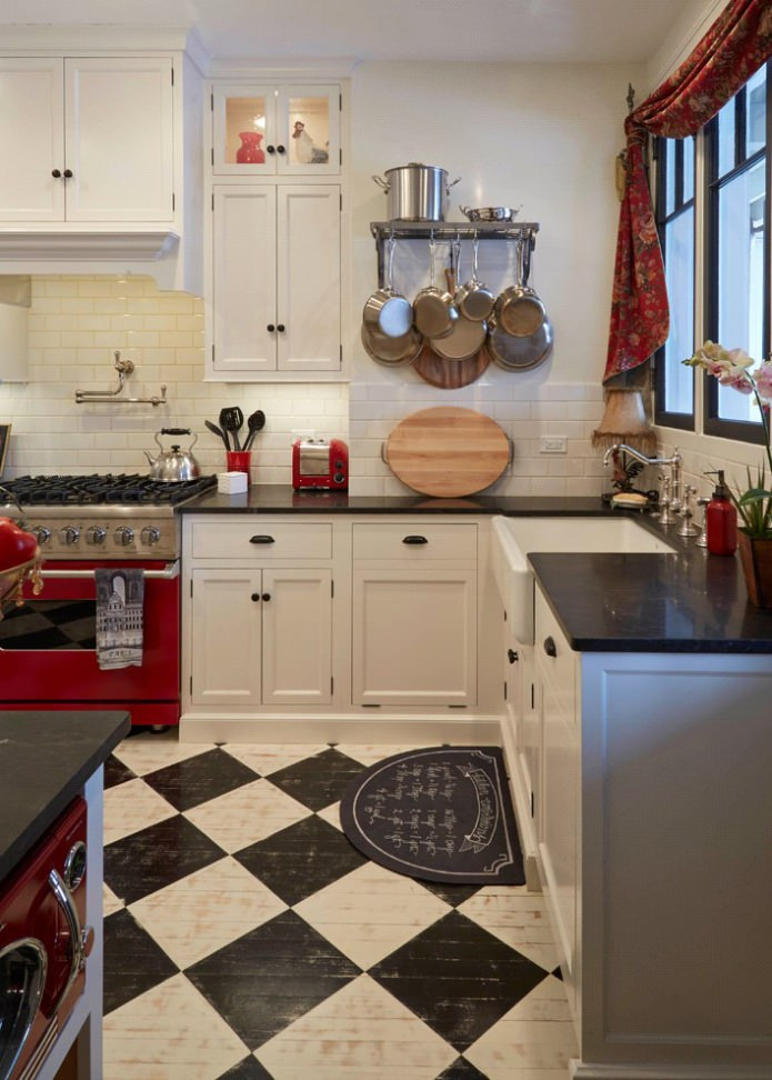 Дизайн белой кухни с черной столешницей: 80 лучших идей, фото в интерьере - 49