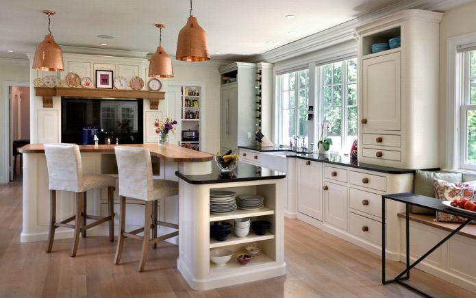 Дизайн белой кухни с черной столешницей: 80 лучших идей, фото в интерьере - 24