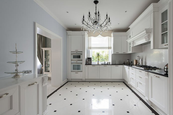 Дизайн белой кухни с черной столешницей: 80 лучших идей, фото в интерьере - 19