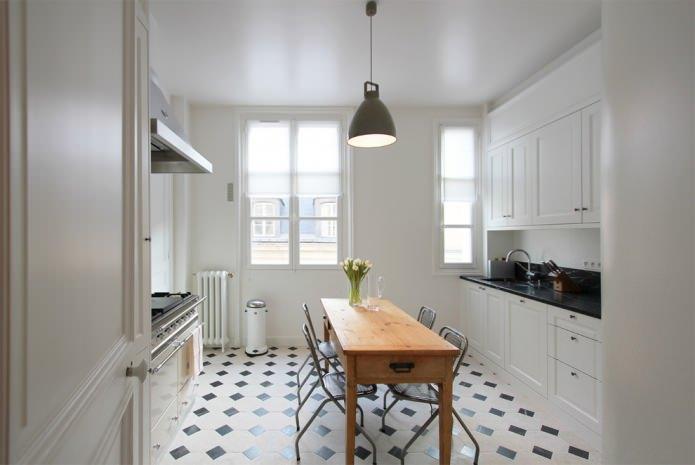 Дизайн белой кухни с черной столешницей: 80 лучших идей, фото в интерьере - 7