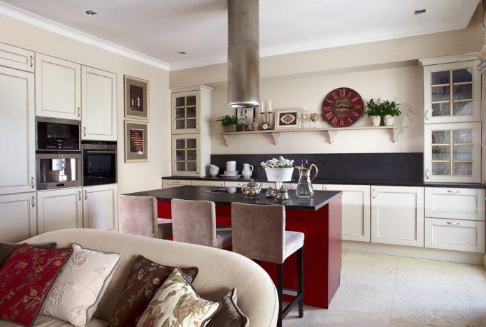 Дизайн белой кухни с черной столешницей: 80 лучших идей, фото в интерьере - 38