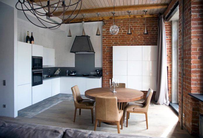 Дизайн белой кухни с черной столешницей: 80 лучших идей, фото в интерьере - 22