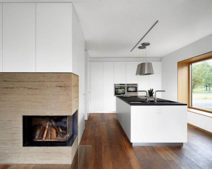 Дизайн белой кухни с черной столешницей: 80 лучших идей, фото в интерьере - 12