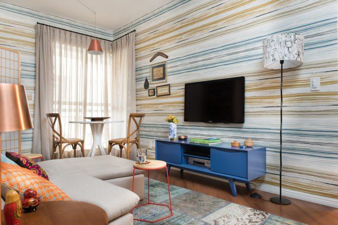 Оформление стен в гостиной: 65 современных идей, фото в интерьере