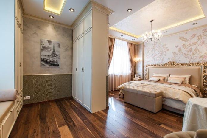 ламинат в интерьере спальни