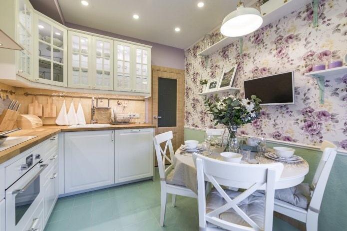 Белый кухонный гарнитур: особенности выбора, сочетания, 70 фото в интерьере - 19