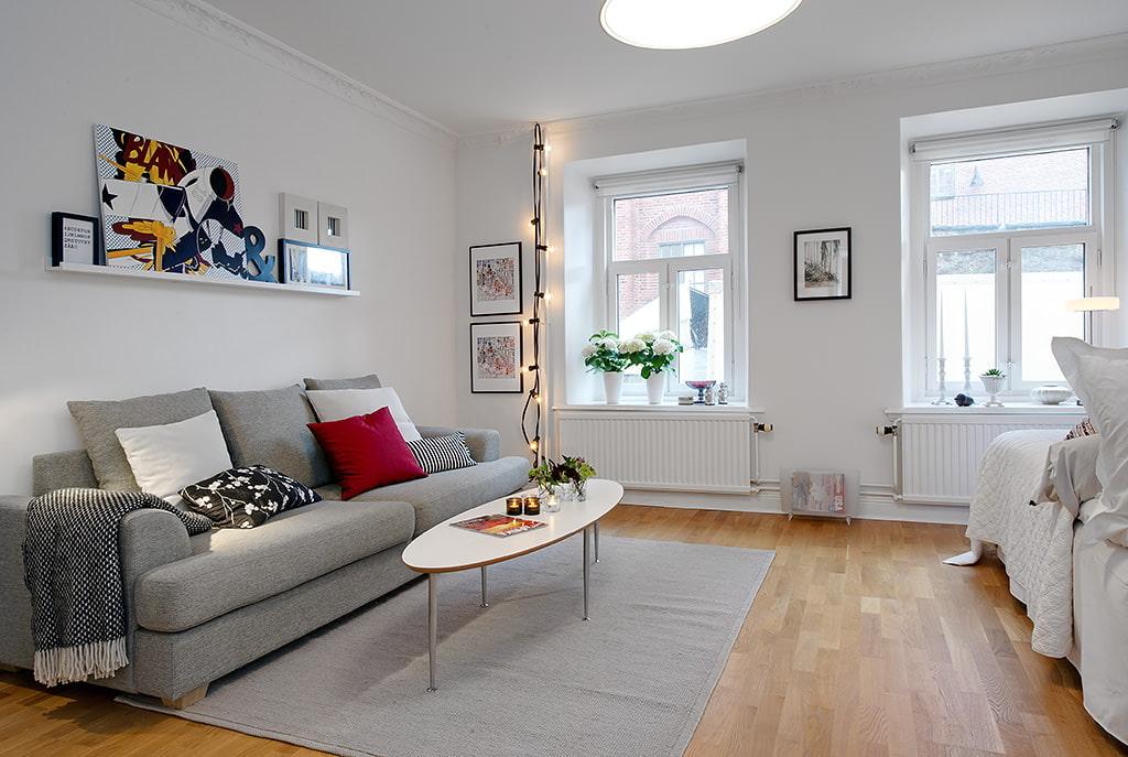 дизайн гостиной в скандинавском стиле фото