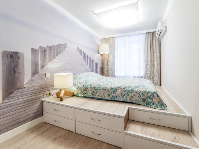 3Д-обои в спальне