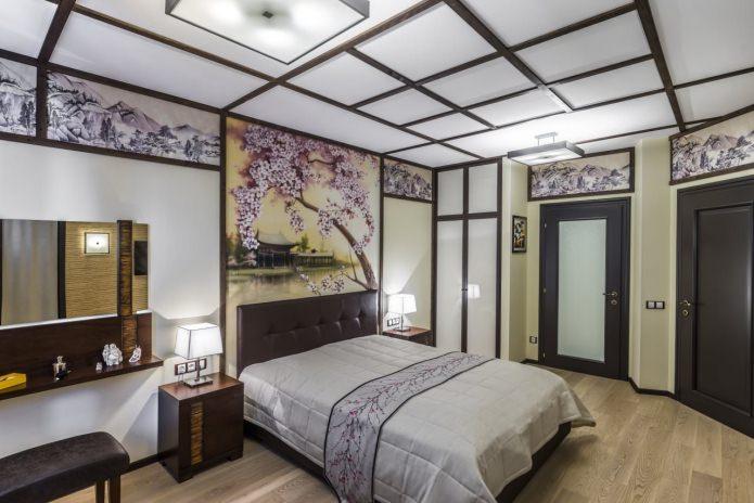 Роспись стен в спальне (сакура)