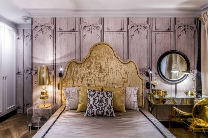 красивая отделка стен в спальне