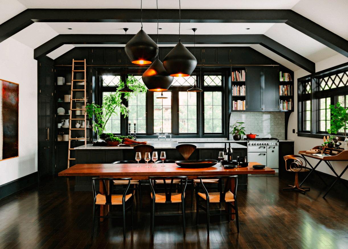 Une cuisine noire pour une déco lumineuse  Travauxcom