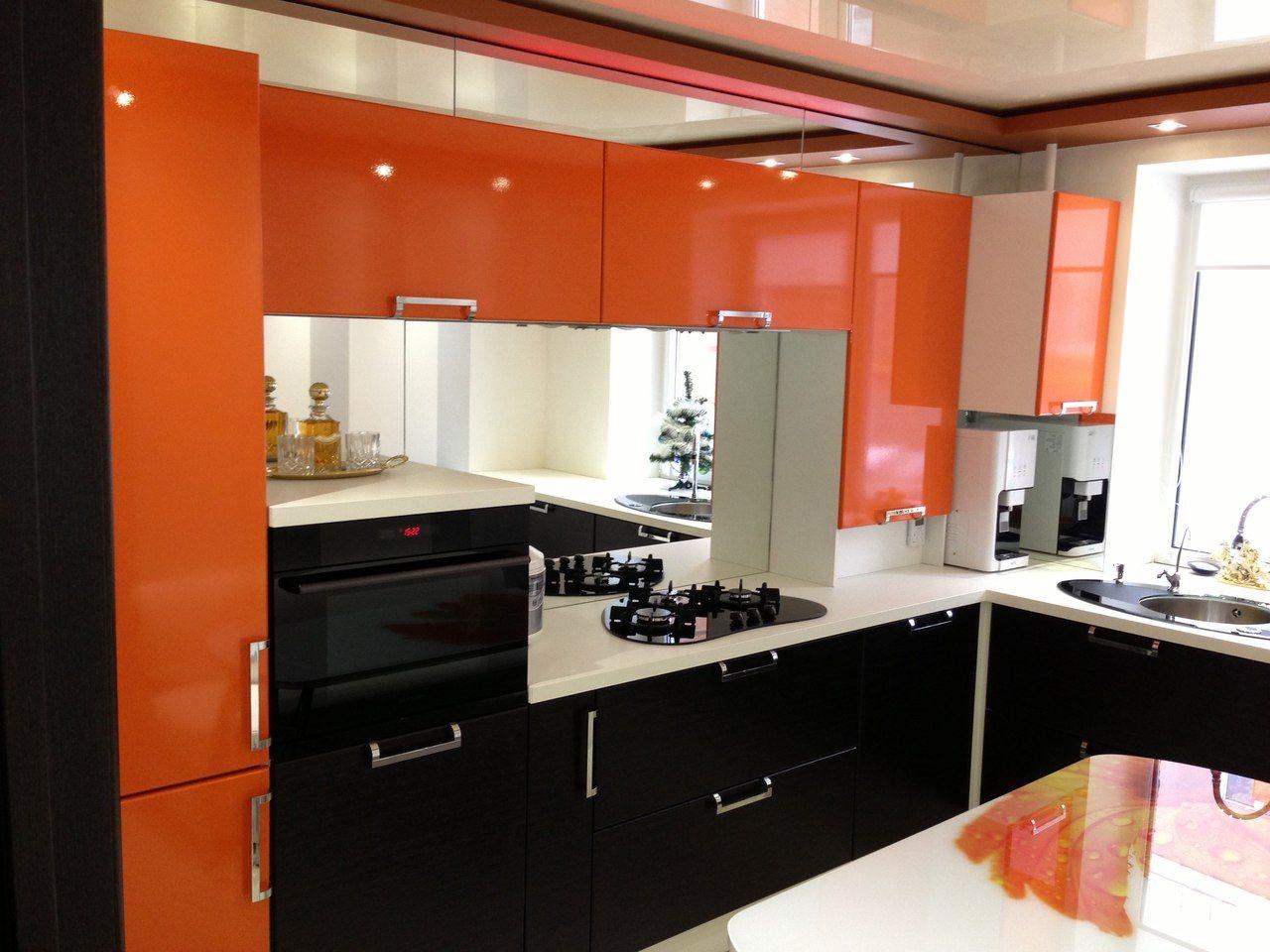 черно оранжевые кухни фото был, как