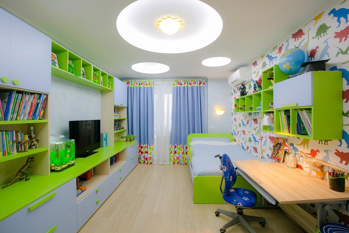 Детская комната шторы для мальчиков дизайн фото