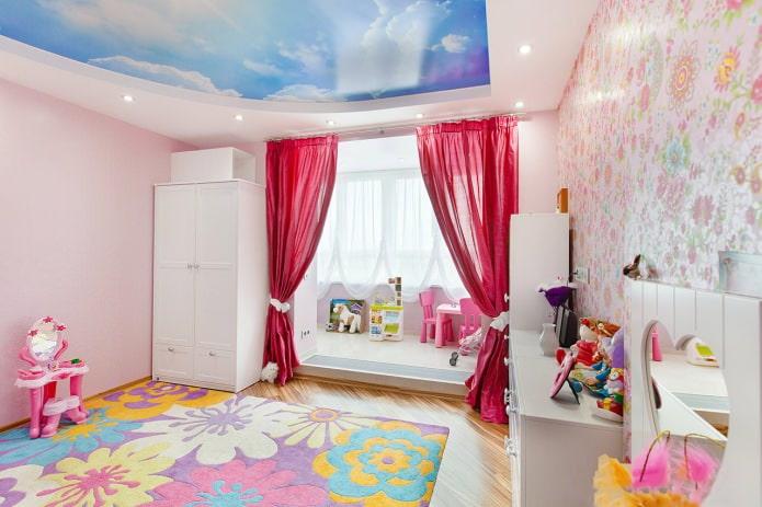 шторы с прихватами в детской