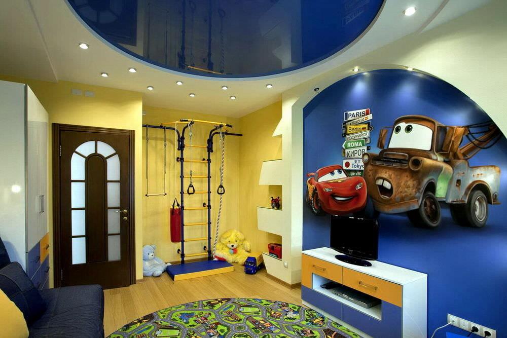 Ремонт детской потолки