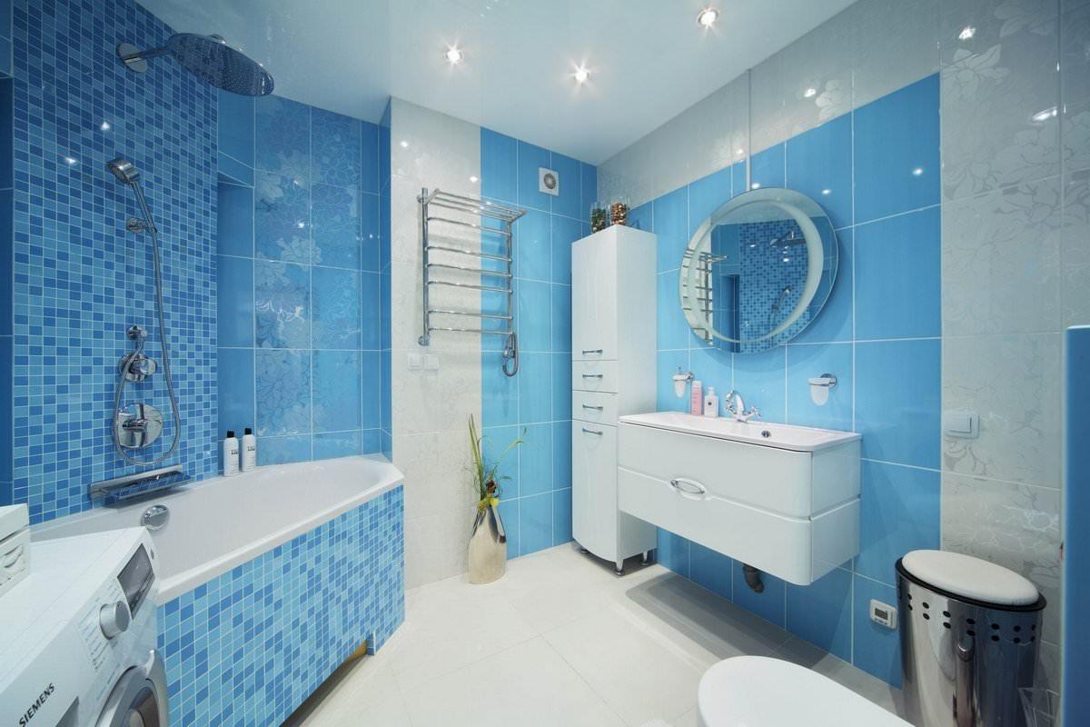 Ремонт комнаты в голубом цвете