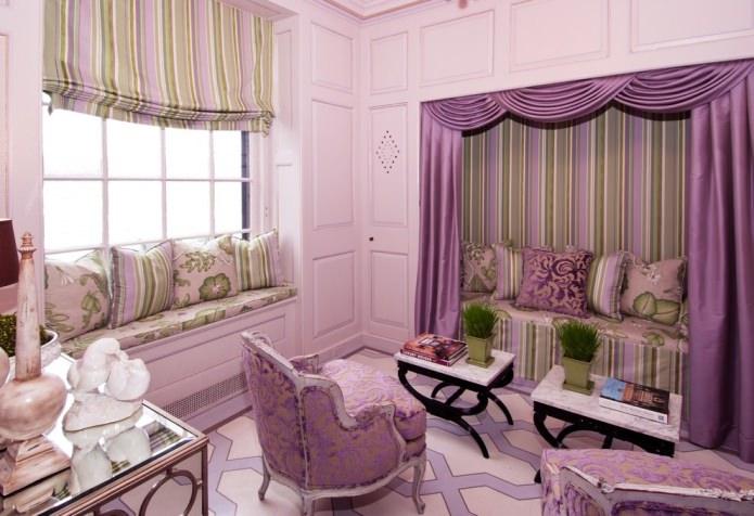 Интерьер в фиолетовом цвете: 70 вдохновляющих фото и идей