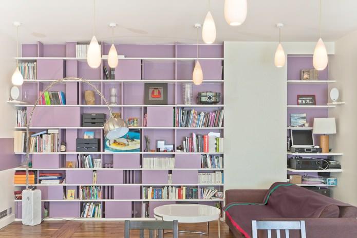 фиолетовый открытый стеллаж