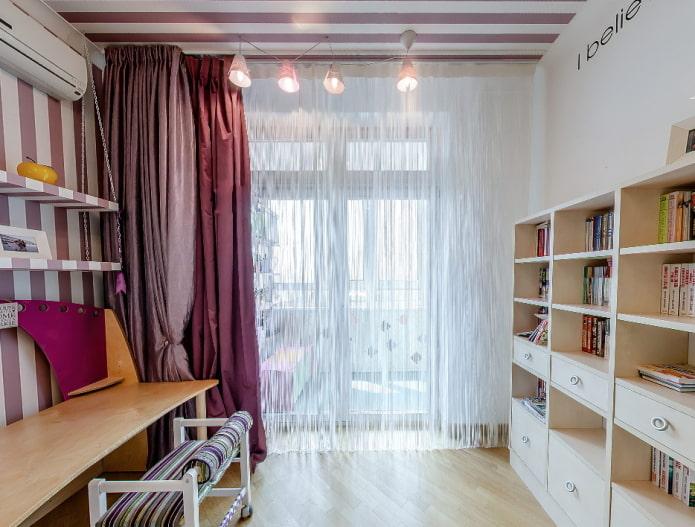 Нитяные шторы в интерьере: 65 избранных фото и идей