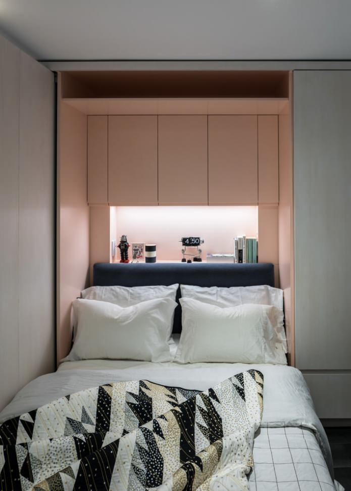 минималистичный декор спальни