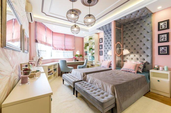 красивая спальня для двух девочек