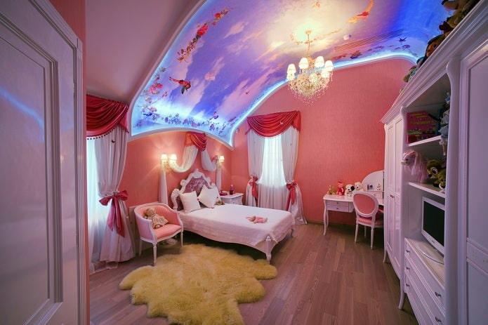 куполообразный потолок 3д