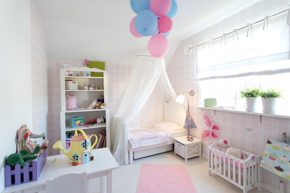 Как сделать дизайн детской комнаты для девочек 869