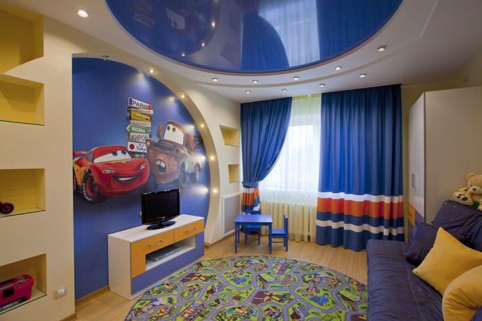 потолок-эллипс в детской