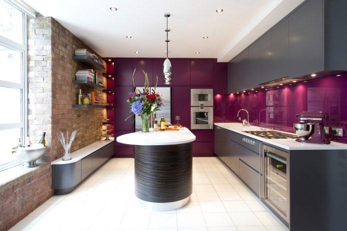 Серый кухонный гарнитур: идеи оформления, 65 фото в интерьере