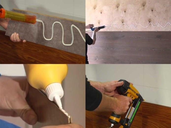 Клеевой метод укладки ламината на стену
