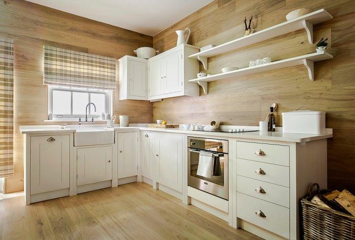 деревянная отделка кухни