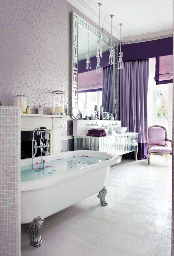 виниловые обои в ванной