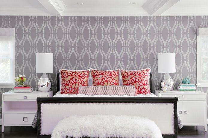 Wallpaper accent wall