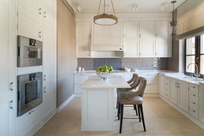 Белый кухонный гарнитур: особенности выбора, сочетания, 70 фото в интерьере - 3