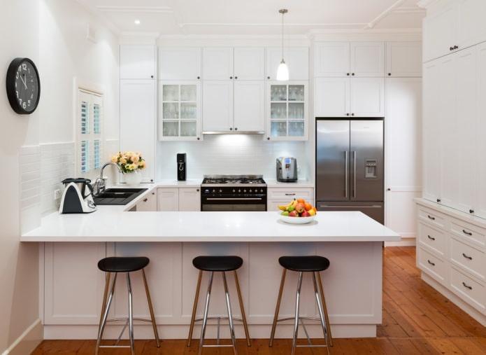 Белый кухонный гарнитур: особенности выбора, сочетания, 70 фото в интерьере - 5