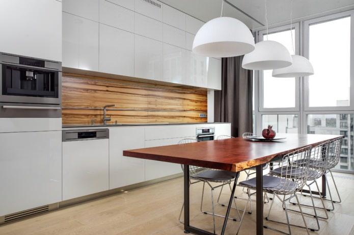 Белый кухонный гарнитур: особенности выбора, сочетания, 70 фото в интерьере - 6