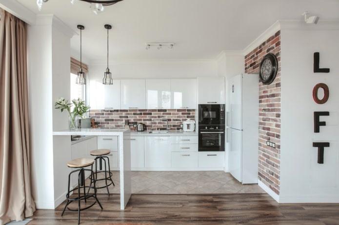 Белый кухонный гарнитур: особенности выбора, сочетания, 70 фото в интерьере - 8