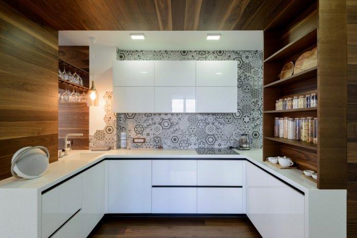 Белый кухонный гарнитур: особенности выбора, сочетания, 70 фото в интерьере - 13