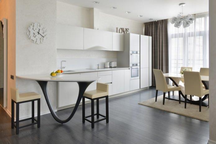 Белый кухонный гарнитур: особенности выбора, сочетания, 70 фото в интерьере - 15
