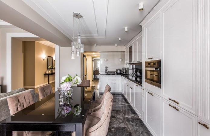 Белый кухонный гарнитур: особенности выбора, сочетания, 70 фото в интерьере - 35