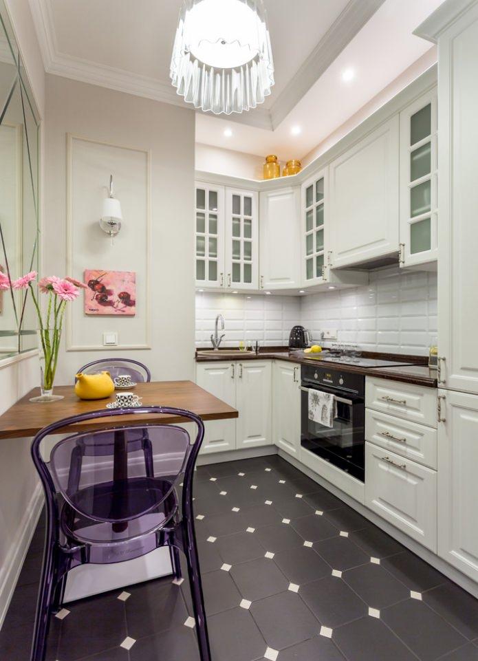 Белый кухонный гарнитур: особенности выбора, сочетания, 70 фото в интерьере - 37