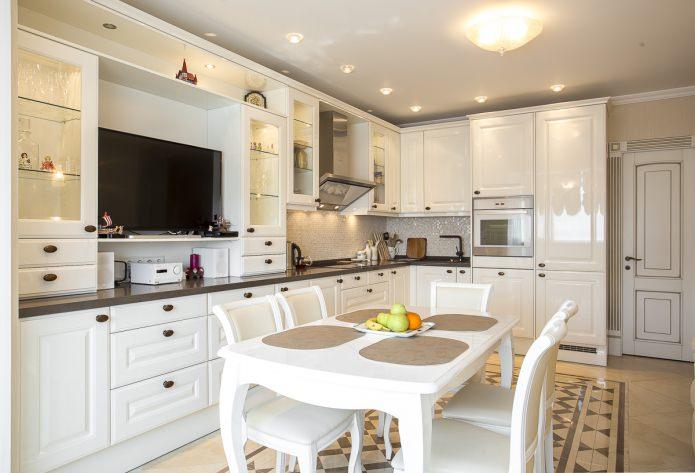 Белый кухонный гарнитур: особенности выбора, сочетания, 70 фото в интерьере - 42