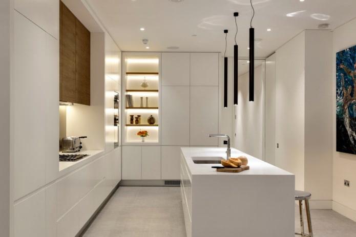 Белый кухонный гарнитур: особенности выбора, сочетания, 70 фото в интерьере - 41